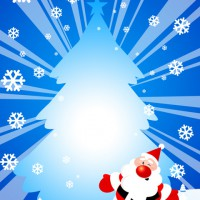 Santa Claus and Christmas tree illustration