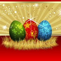 Decorated Easter eggs illustration