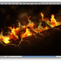 Burning hell text effect