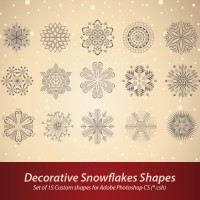 Decorative Snowflakes Shapes
