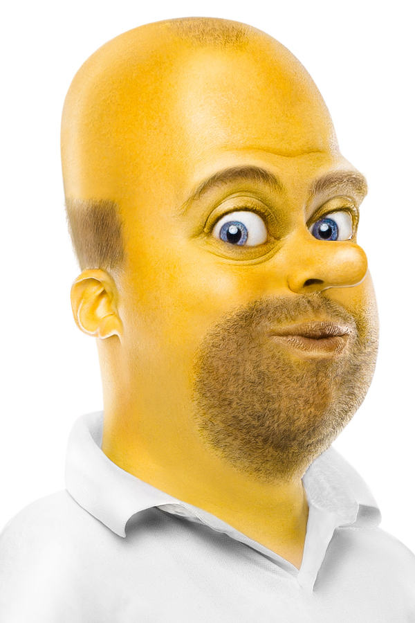 Homer Simpson Face Painting