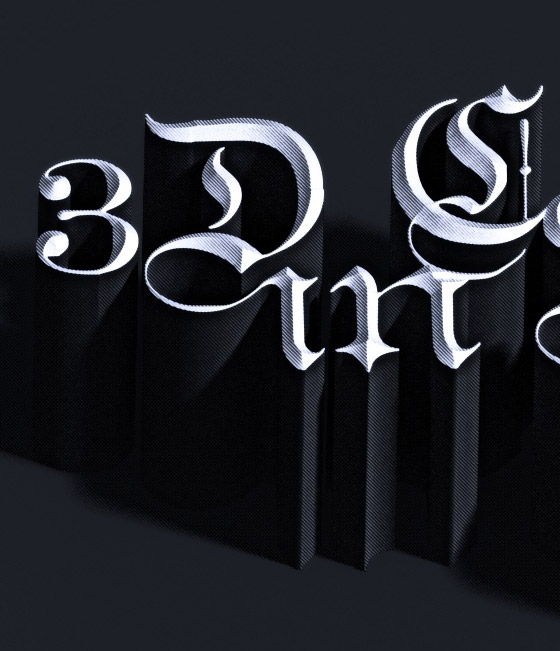 extruded 3d text