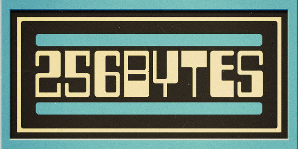 two fifty Six bytes font