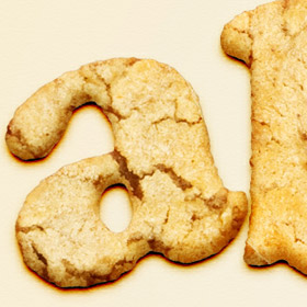 Cookie typography in photoshop
