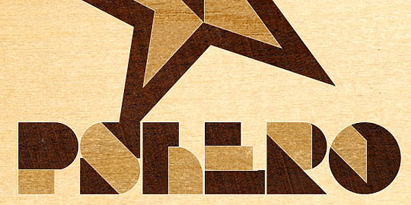 Wood inlay text effect