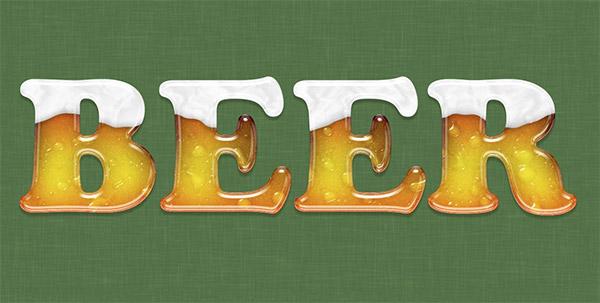 beer text effect