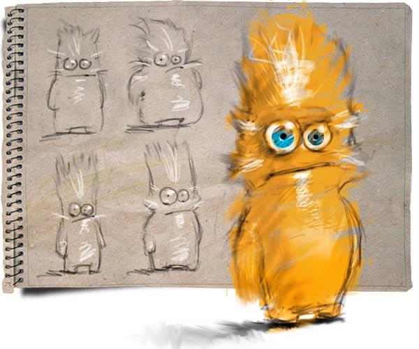 cartoon character photoshop