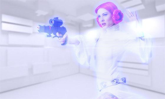 holographic effect photoshop