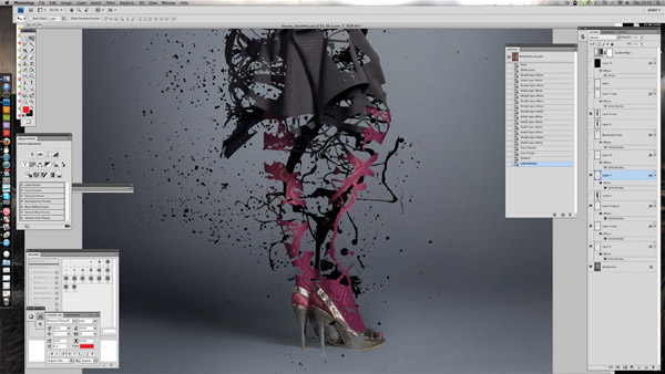 splatter paint eroded fashion shot