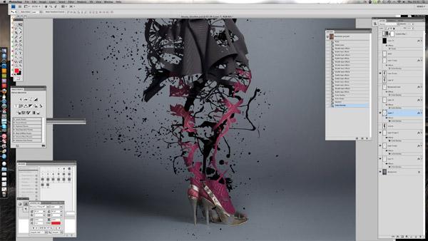 splatter paint eroded fashion shot