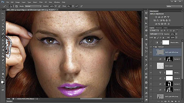 Skin and portrait retouching