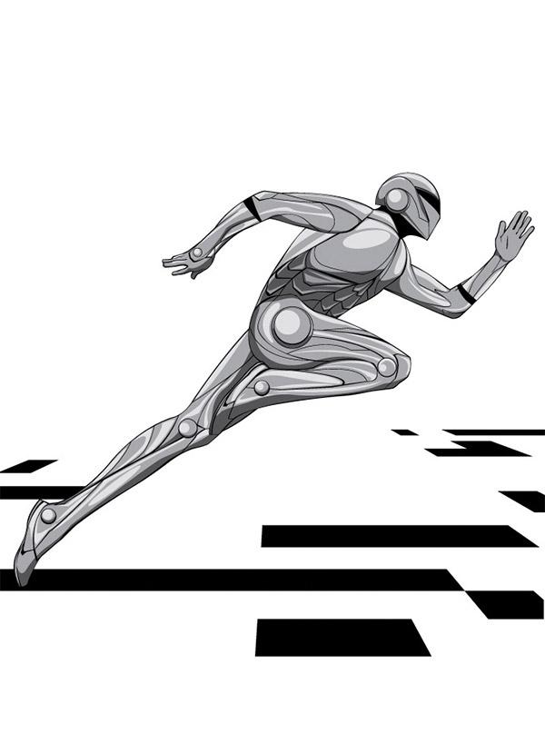 motion effects superhero illustration