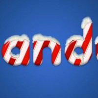 candy cane text effect