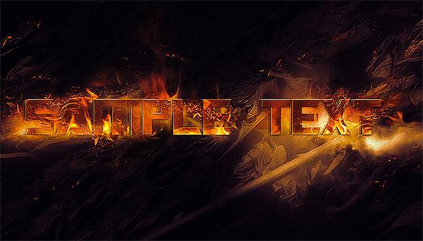 grungy burnt text effect