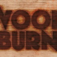 Text burnt on wood in Photoshop